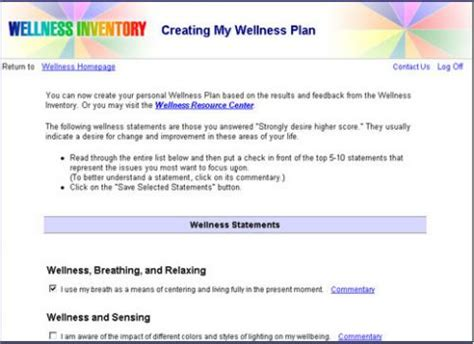 The Wellness Wheel Personal Wellness Plan Template