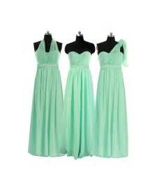 mint chiffon long infinity dress