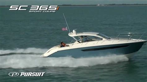 boats like pursuit pursuit boats sc 365i running video youtube