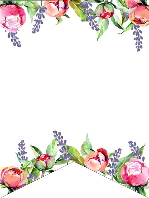 Free Printable Banner Templates Blank Banners Paper Trail Design Flower Banner Template