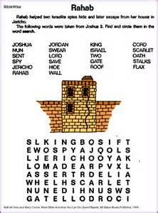 Blind Bartimaeus Bible Study Rahab Word Search Kids Korner Biblewise