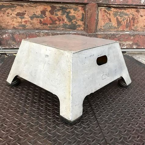 Conductors Stool by Industrial Aluminum Conductor Stool At 1stdibs