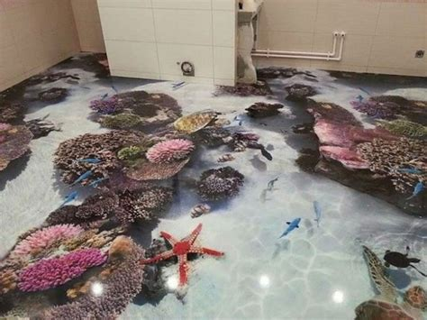 3d bathroom floor art 5 steps to install 3d flooring in your bathroom