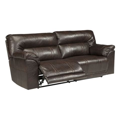 ashley furniture leather recliners ashley furniture barrettsville leather reclining sofa in