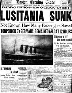 Sinking Of The Lusitania Newspaper Article 301 moved permanently