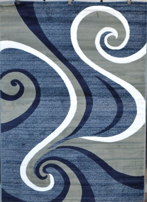 Blue And Gray Area Rugs by 0327 Blue Purple Gray Black Modern Area Rug