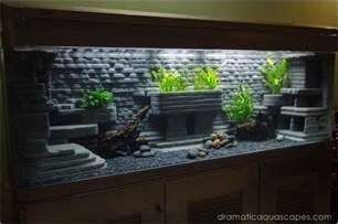 dramatic aquascapes diy aquarium http
