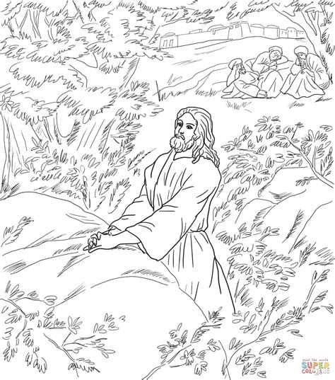 coloring pages jesus in gethsemane jesus pray in the garden of gethsemane coloring online