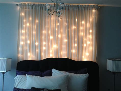 curtains with lights in them light curtain headboard bedroom ideas