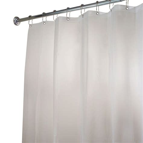 extra long shower curtains and liners interdesign eva extra long shower curtain liner in clear
