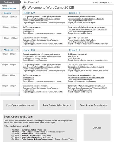 Event Program Template Cyberuse Free Event Program Templates
