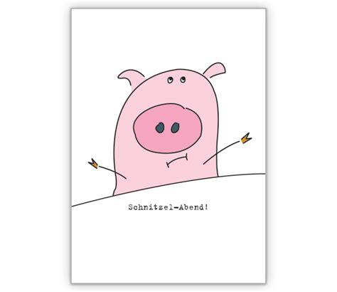 lustige einladungskarte zum schnitzel essen http www