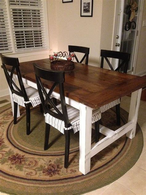 diy farm table on the cheap hometalk