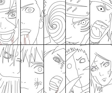 naruto coloring pages akatsuki how to draw akatsuki para colorear