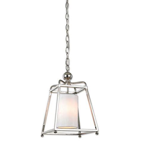 polished nickel pendant light decor living wagner 1 light polished nickel pendant 7501p