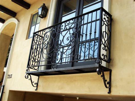 wrought iron balcony railing exterior mediterranean with
