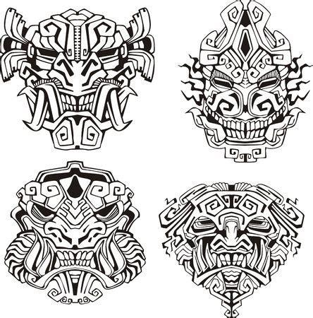 imagenes de totem mayas coloriage masques monstres azteques face ink pinterest