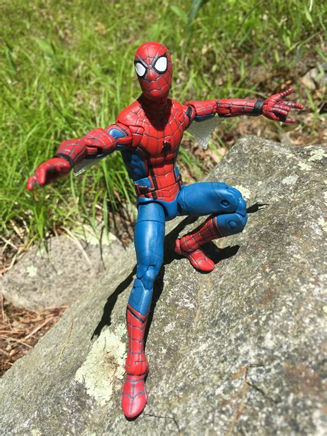Marvel Hasbro Civil War Spider Spidey Ml Kw marvel legends spider homecoming web wings review