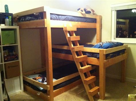 triple bunk bed design 1 right facing 1 diagonal stair dave s triple