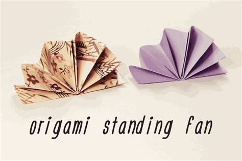 Origami Standing - origami standing fan napkin fold tutorial