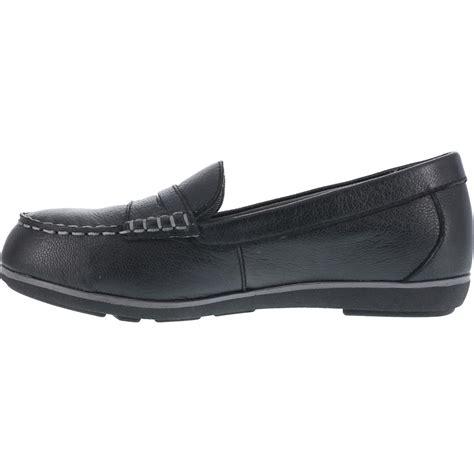 steel toe loafers s steel toe sd black loafer rockport top shore