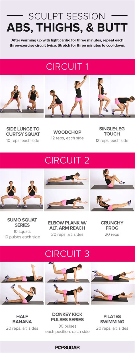 printable workout abs thighs and popsugar fitness