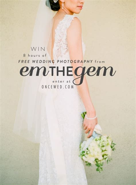 Free Bridal Giveaways - win a wedding photography package from em the gem