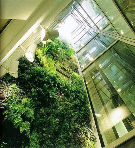 Organic Vertical Gardening Green Elevator Shaft Via Vertical Garden The Of