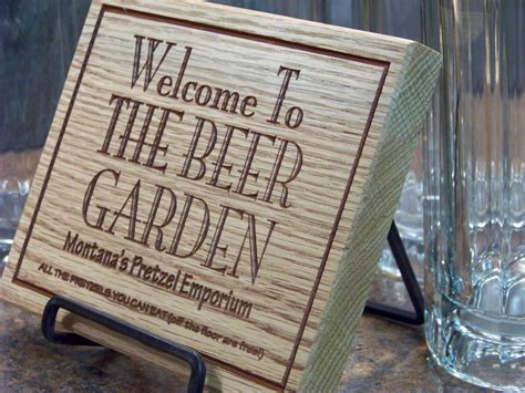 personalized wooden garden sign