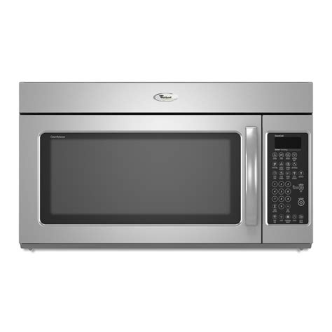 shop whirlpool 2 cu ft the range microwave stainless