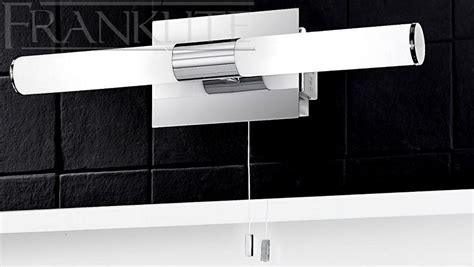 bathroom mirror lights with shaver sockets franklite slimline chrome bathroom wall light with