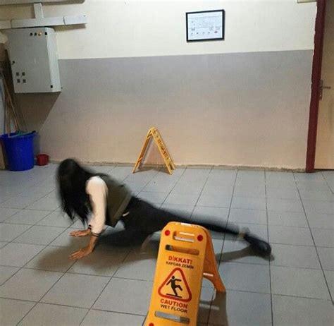 cauntion wet floor relatable memes reaction