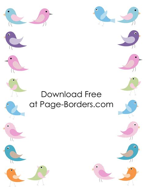 Bird Bordir by Free Printable Bird Border Customize Then
