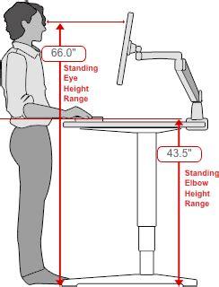 standing desk measurements human solution standing desk dimensions workstation