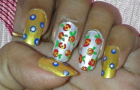 easy nail art tutorial no tools easy rose without tool nail art gallery step by step