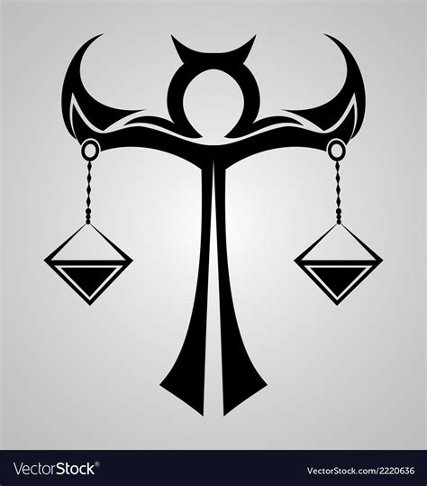 libra sign tattoo design royalty free vector image