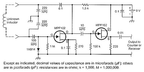 circuit diagram of inductance meter accurate measurement of small inductances