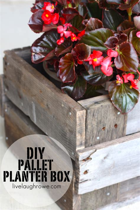 Easy Diy Planter Box by Pallet Planter Box Diy Project Live Laugh Rowe