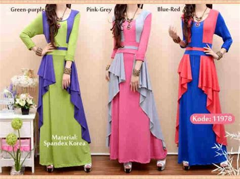 Dress Bahan Spandek Korea Spandek vkoy boutique supplier butik hijabers shena maxi dress