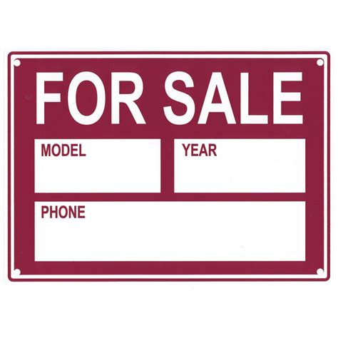 vehicle for sale sign 9944 additional products sas