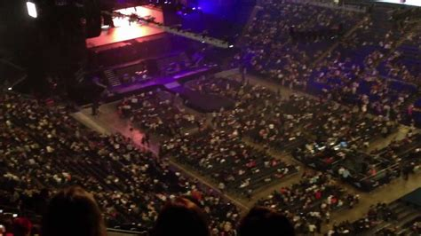 o2 section bk the o2 arena london view from block 408 level 4 youtube