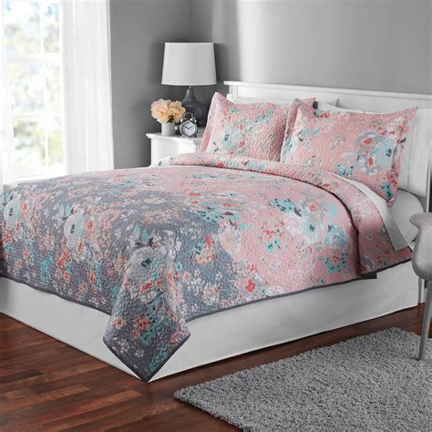 walmart queen bedding sets queen size quilts at walmart better homes and gardens
