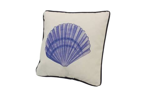 Seashell Pillow by Blue And White Seashell Decorative Throw Pillow 10 Quot