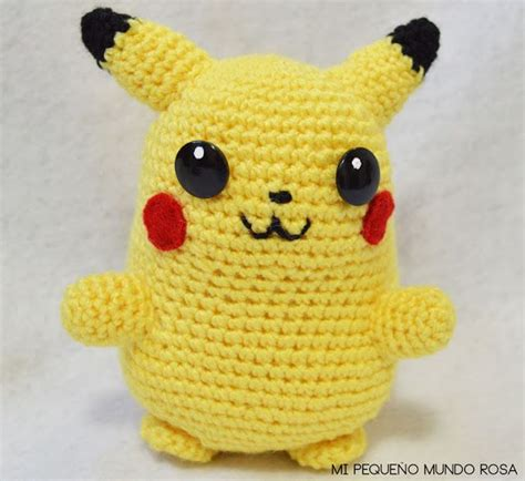 pattern magic que es mi peque 241 o mundo rosa pikachu a crochet patr 243 n en