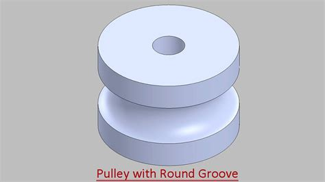 Drawing O Ring Solidworks by Pulley With Groove Tutorial Solidworks