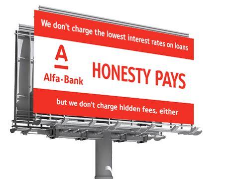 alfa bank alfa bank honesty pays честным быть выгодно on behance