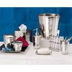 Nickel Bathroom Accessories Pottery Barn Hammered Nickel Bath Accessories Bathroom Accessory Sets Kitchen Dining