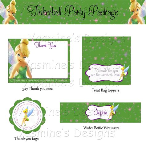 free printable tinkerbell party decorations green tinkerbell party package printable diy