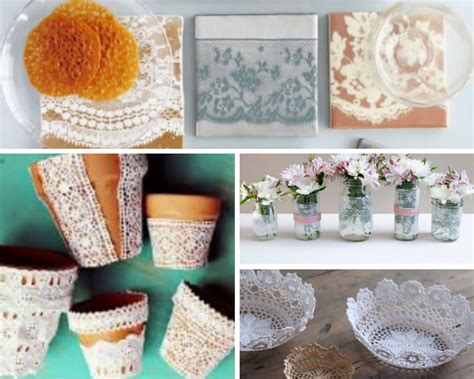 Handmade Projects - 40 adorable diy projects with lace you ll fall in