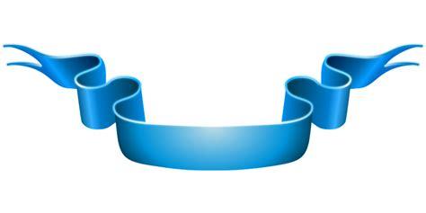 Pita Bunga Biru gambar vektor gratis spanduk biru pita perayaan
